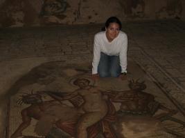 Mosaic floor at Roman city of Bulla Regia