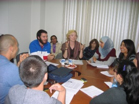 Round table cross-cultural discussion in Tunis
